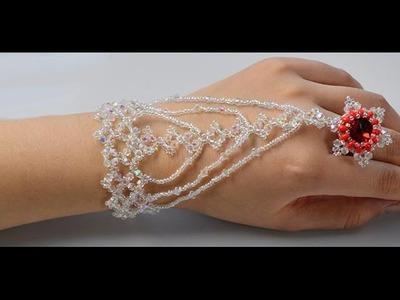 DIY bling bling cristal anillo-pulsera