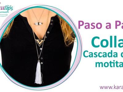 DIY - Collar Cascada con Motita - Karatips