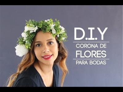 DIY Corona De Flores Para Bodas