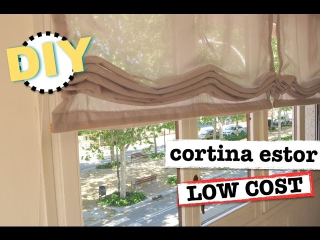 Diy cortinas estor low cost super facil y economico - Hacer un estor enrollable ...