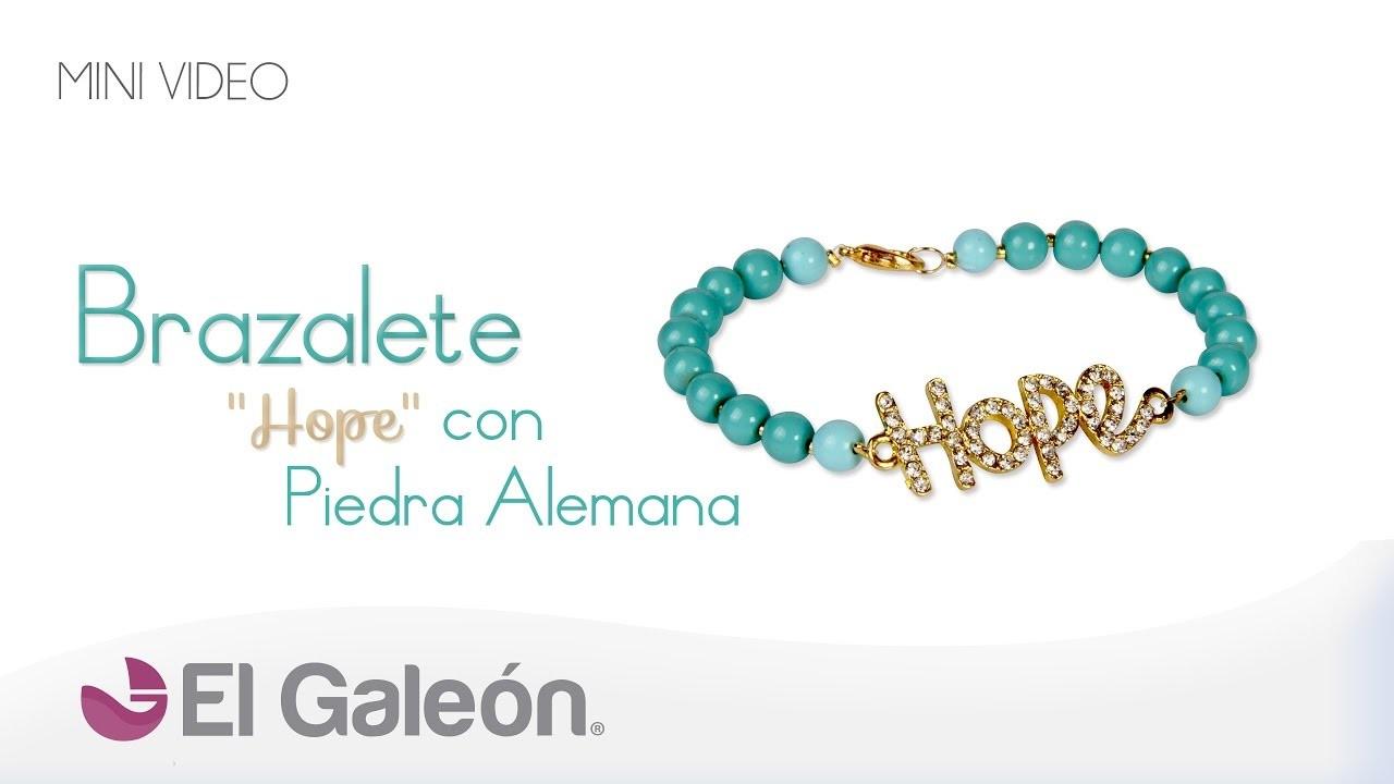 """DIY El Galeón Brazalete """"Hope"""" con Piedra Alemana"""