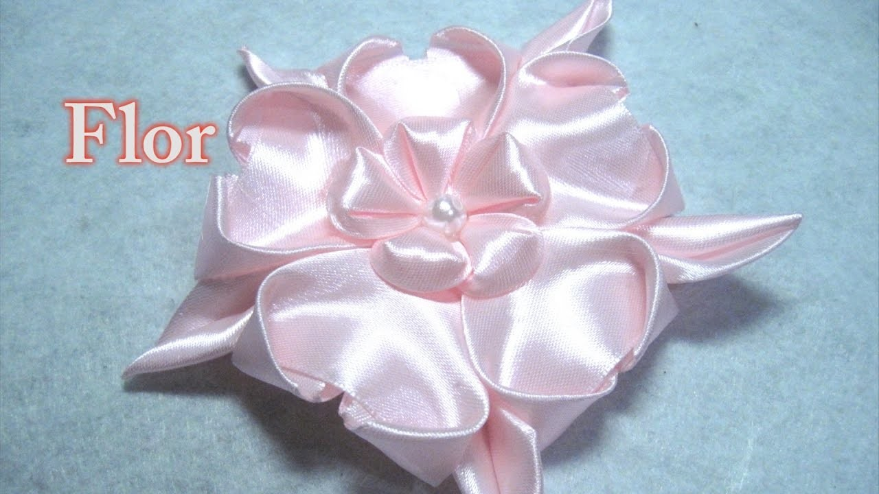 # DIY - Flor rosa de 5 pétalos # DIY - Pink flower of 5 petals
