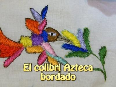 El colibri azteca bordado |Creaciones y manualidades angeles