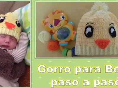 GORRITO PARA BEBE en crochet PASO A PASO