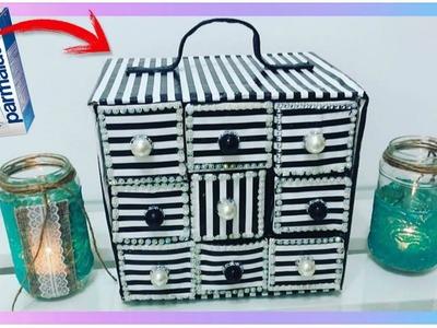 Organizador Reciclado con cajas de leche Tetrapack (Manualidades recicladas paso a paso)