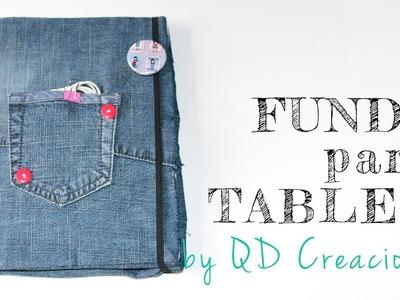 Tutorial DIY - Funda tejana para tablet fácil y reciclada