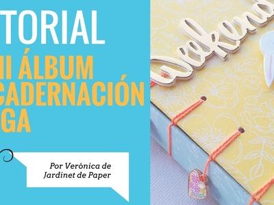 Tutorial Scrapbooking Mini Album Encuadernación Belga