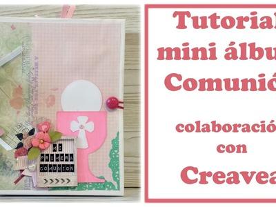 Tutorial scrapbooking: mini álbum Comunión con Bind it all