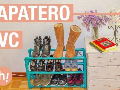 Zapatero con tubos de PVC · Handfie DIY
