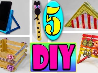 ♥ 5 ideas DIY para hacer con palitos de helado (Fácil y Rápido) ♥