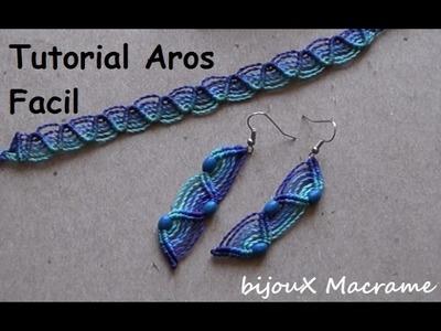 BijouX Macrame - Tutorial n#1 Aros facil y rapido. DIY very easy earring