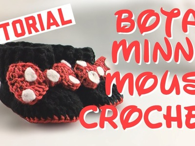 Botas para Bebé de Minnie Mouse - Tutorial Crochet