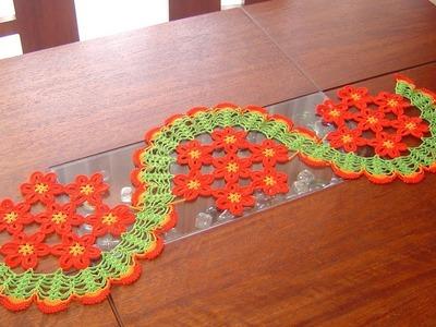 Camino de mesa de margaritas a crochet paso a paso parte 2.2