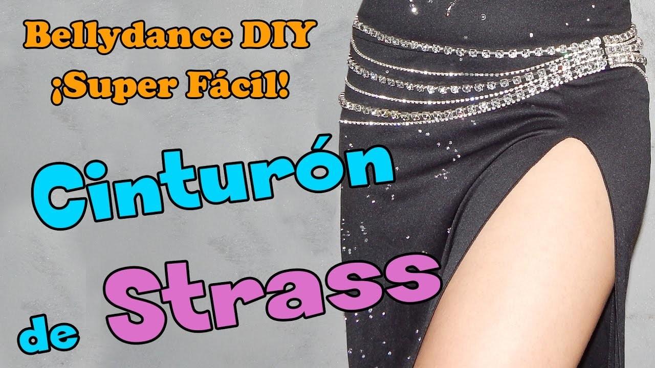 Cinturón de pedreria strass para danza del vientre ¡Muy fácil!