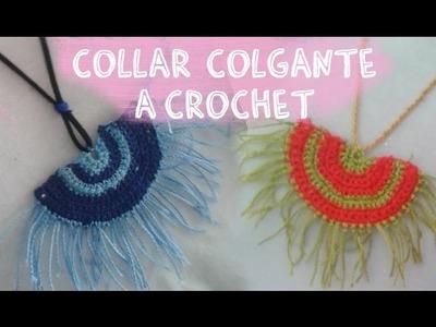 """Collar Colgante estilo boho a crochet """"Necklece Crochet"""""""