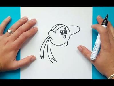 Como dibujar a Kirby paso a paso 2 - Videojuegos Kirby | How to draw Kirby 2 - Kirby video games