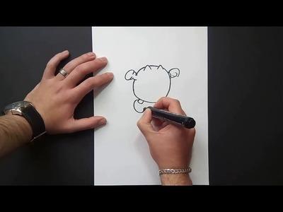 Como dibujar a Pacman paso a paso 2 - Videojuegos Pacman | How to draw Pacman 2 - Pacman video games