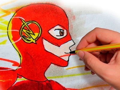 COMO DIBUJAR ANIME THE FLASH: Dibuja a los superheroes en manga
