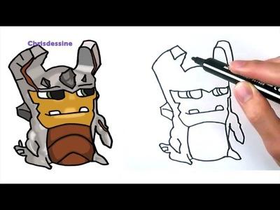 Como dibujar la babosa elemental de tierra   How to draw an earth elemental slug
