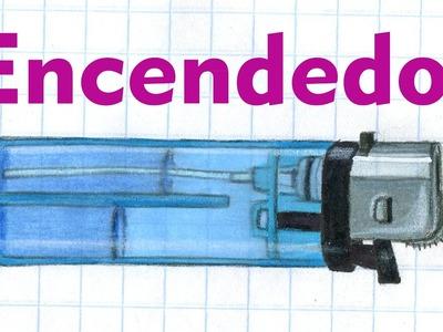 Como dibujar un ENCENDEDOR Mechero Accesorios Domésticos Casa Tutorial ILUSTRA SHOW