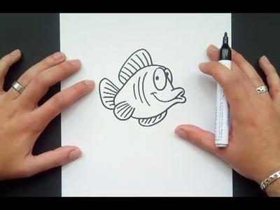 Como dibujar un pez paso a paso 21 | How to draw a fish 21