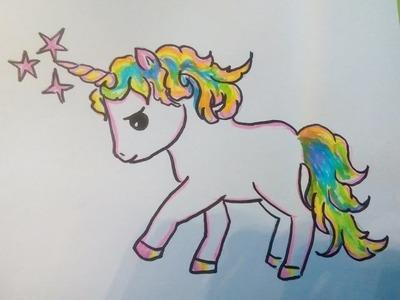 COMO DIBUJAR UN PONY (UNICORNIO, CABALLO) Como hacer un dibujo para principiantes