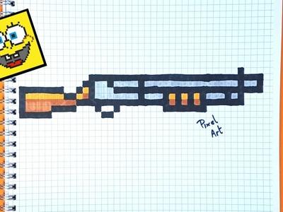 Cómo dibujar una escopeta paso a paso en pixel art