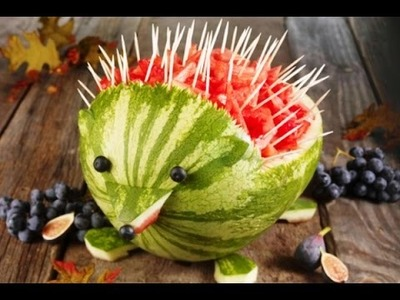 Como Elaborar un Puercoespin con Frutas- HogarTv por Juan Gonzalo Angel