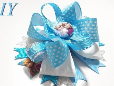 Como Hacer Lazos ???? DIY #82 Lazo Boutique Inspirado en Anna y Elsa de Frozen Tutorial