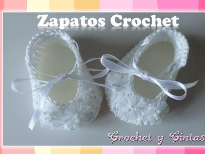 Como tejer zapaticos, escarpines crochet (ganchillo) para bebés – Parte 2