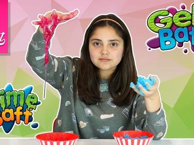 Comparando slime baff y gelly baff | hacemos slime y gelly | DIY | hazlo tu mismo