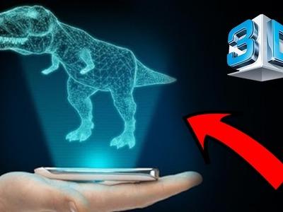 Convierte tu Smartphone en un Holograma 3D (DIY turn your smartphone into a 3D hologram)