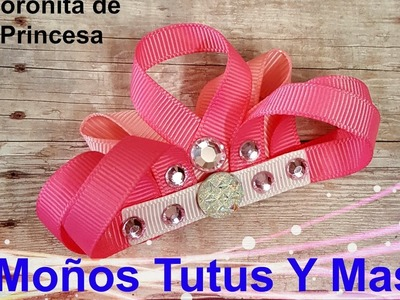 CORONA DE PRINCESA Paso a Paso RIBBON SCULPTURE CROWN Tutorial DIY How To PAP Video 156