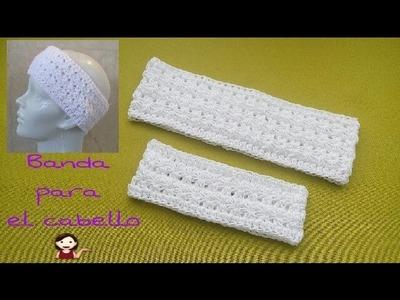 Crochet,Banda para el cabello (punto estrella)
