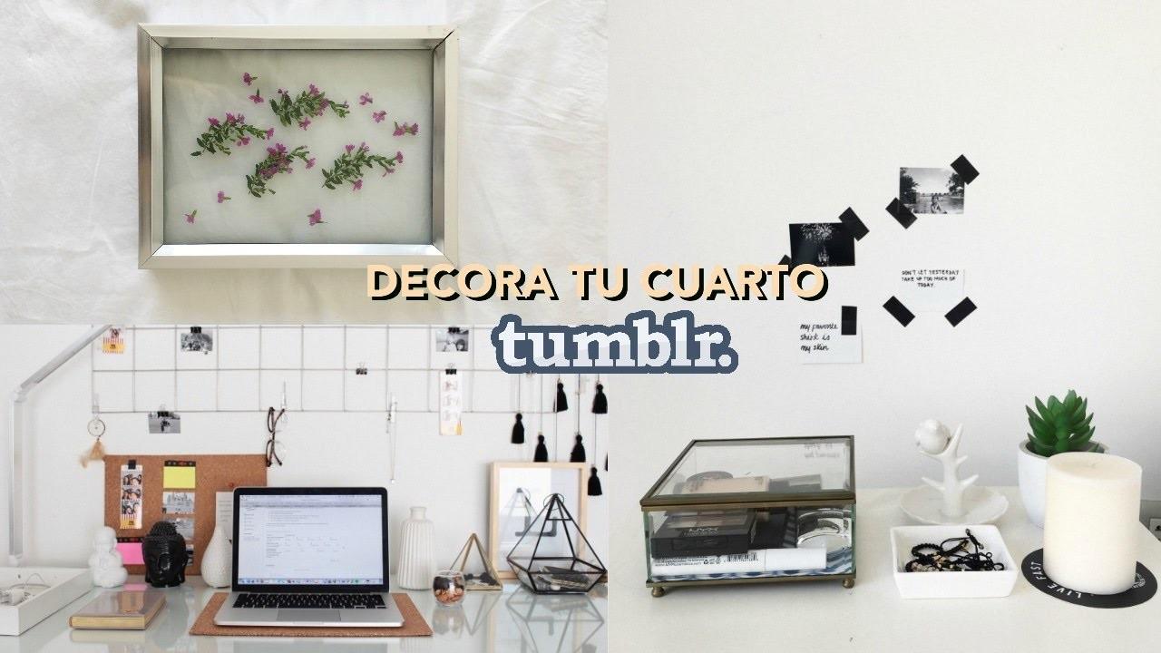 Decora tu cuarto tumblr pinterst diy hacks facil for Como personalizar tu cuarto