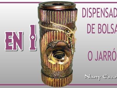 DIY: 2 EN 1: DISPENSADOR DE BOLSAS O JARRÓN
