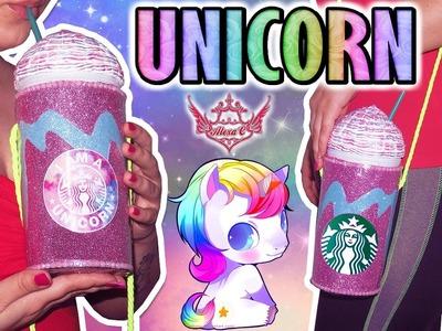 ♥ DIY: BOLSITO FRAPPÉ UNICORNIO de Starbucks ♥