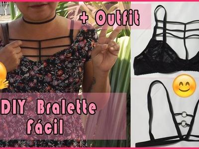 ❤ DIY ❤  Bralette fácil + Outfit ❤ Narime ❤