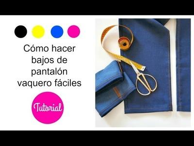 DIY Cómo hacer bajos de pantalón FÁCIL