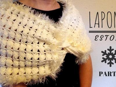 "Estola ""Laponia"" (ganchillo. crochet) - Parte 2"