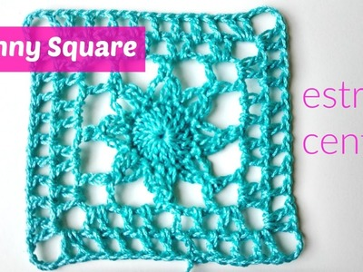 Granny square crochet estrella central