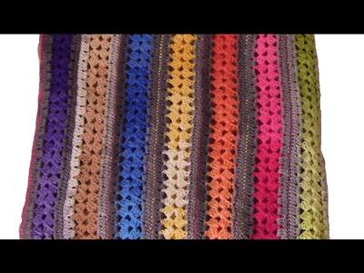 Manta crochet ganchillo facil paso a paso en español