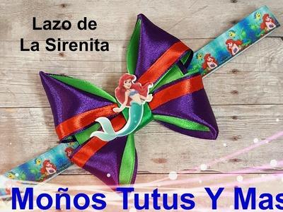 MOÑO SIRENITA PRINCESA ARIEL Paso a Paso PRINCESS ARIEL HAIR BOW Tutorial DIY How To PAP Video 158