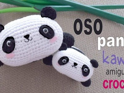 Oso panda kawaii tejido a crochet (amigurumi). Tejiendo Perú
