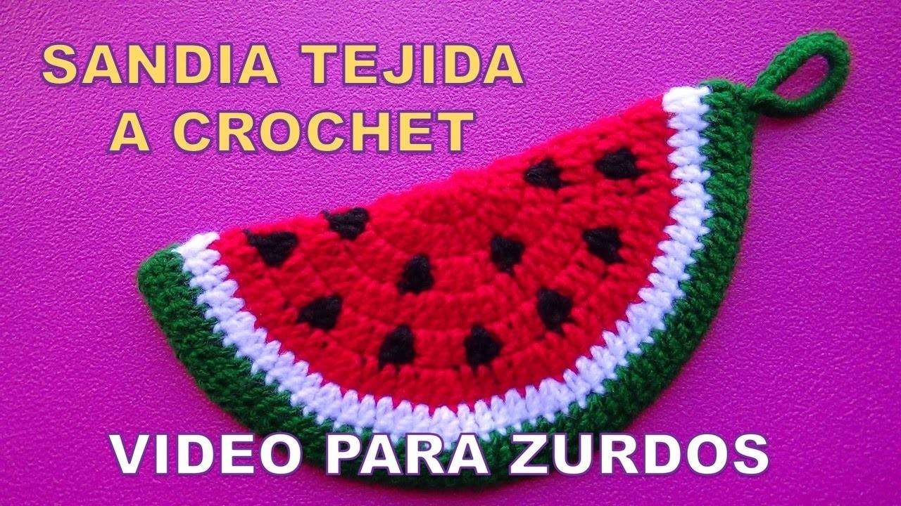 Para Zurdos Sandia Tejida A Crochet Paso A Paso Para