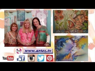 Programa 05 ArteZ TV 20-04-17 Laura Craft+Eniarte-Efecto Tela-Abstracto con acrílicos profesionales