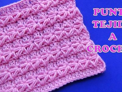 Punto a crochet para prendas de invierno aplicando el punto Estrella  con puntos altos