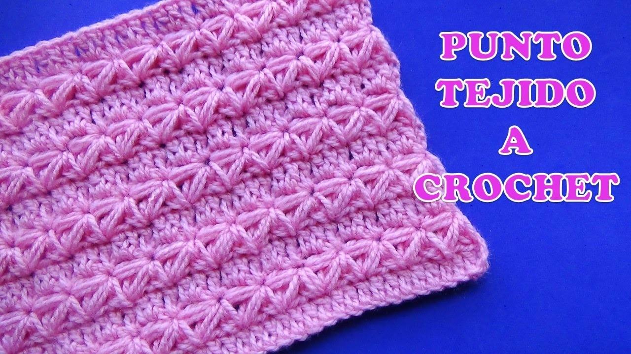 Punto a crochet para prendas de invierno aplicando el - Punto de ganchillo para mantas ...