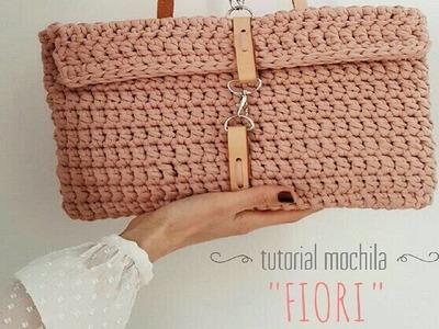 Tutorial mochila de trapillo handmade con puntos de crochet