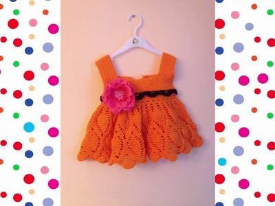 Vestido a crochet para bebe recien nacido